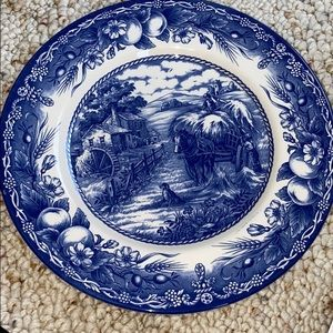 Royal Stafford blue and white plate